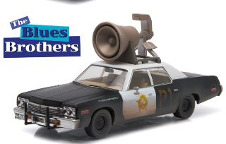 DODGE MONACO BLUES BROTHERS 1/43 1980 BLUESMOBILE
