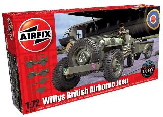 WILLYS BRITISH AIRBORNE JEEP 1/72 TRAILER & 6PDR
