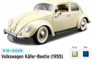VW KAFER-BEETLE 1955      1/18