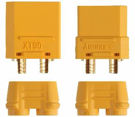 COPPIA CONNETTORI XT90-S