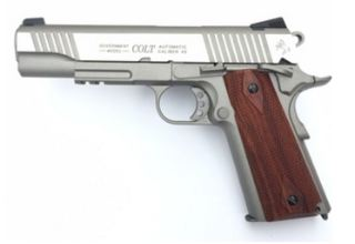 COLT 1911 RAIL GUN SILVER  CO2