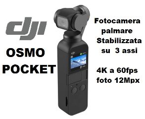DJI OSMO POCKET FOTOCAMERA 4K 116gr  STABILIZZATA SU 3 ASSI