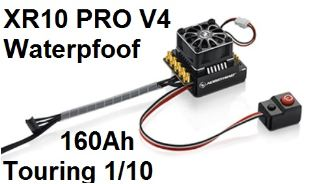 XERUN XR10 PRO V4 WATERPROOF NERO 160Ah Regolatore brushless 1/10