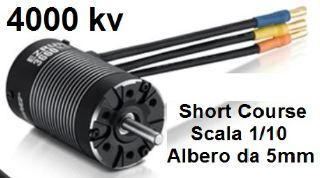 MOTORE EZRUN 3660SL G2 4000kv SHORT COURSE 1/10  ALBERO 5mm