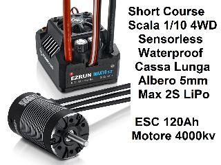 COMBO ESC MAX10-SCT 120Ah +  EZRUN-SL-3660 4000KV Short Course 4wd 1/10