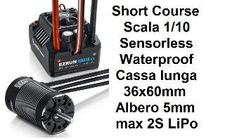 COMBO MAX10-SCT 120Ah + SL-3660 4600kv 1/10 SHORT COURSE SCT