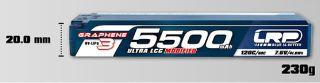 LiPo HV 7,6v 5500mAh 120/60C GRAPHENE-3 Hyper LCG Modified