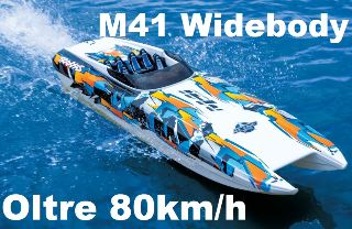 M41 WIDEBOY CATAMARANO  1003mm MONTATO CON RADIO OLTRE 80km/h