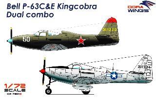 Dora Wings Bell P-63C&E Kingcobra 1/72 dual combo