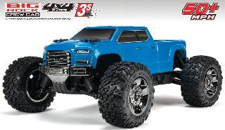 Big Rock Crew Cab 4X4 3S BLX 1/10 4WD MT Blue monster truck