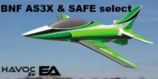 HAVOC Xe 80mm EDF Sport Jet BNF AS3X & SAFE Select