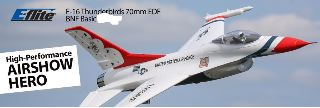 F-16 Thunderbirds 70mm EDF BNF Basic w/AS3X and SS F16 A VENTOLA