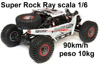 Super Rock Rey: 1/6 4wd RTR AVC RockRacer-Raceline