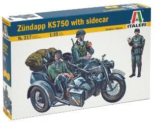 ZUNDAPP KS750 CON SIDECAR 1/35