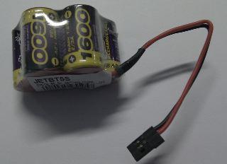 PACCO RX 6v 1600mah HITEC  3+2
