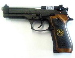 PISTOLA VIRUS M92F A GAS  NERA
