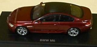 BMW M6 BORDEAUX METALIC   1/43
