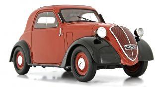 Fiat 500 A Topolino Rosso Amaranto Trasformabile 1936 1/18