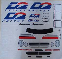 DECAL MERCEDES CLK         1/8