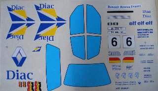DECAL CLIO + FINESTRATURE 1/10