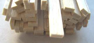 LISTELLI BALSA mm 3x12    50pz