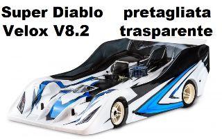 Carrozzeria Super Diablo per Velox 1/8 pista pretagliata Xtreme