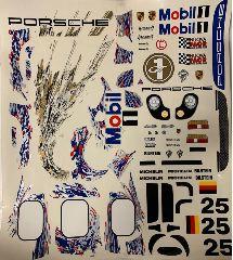DECAL PER PORSCHE 911 GT1  1/8