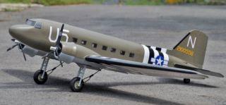 DOUGLAS DC-3 DAKOTA     1800mm DC3 VQ MODEL