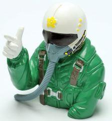 Pilota di jet verde 98mm scala 1/6