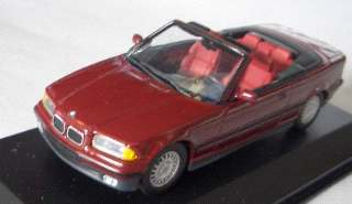 BMW SERIE 3 1992 ROSSO    1/43