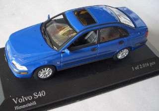 VOLVO S40 2000 BLU        1/43
