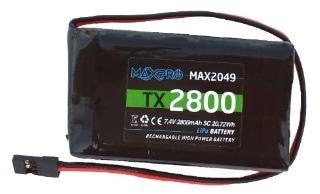 MAX2049 LiPo 7,4v 2800mAh   TX