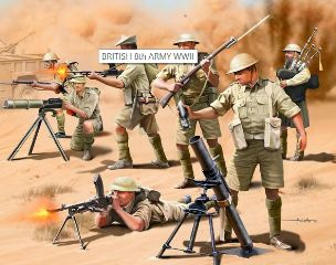 BRITISH 8 ARMY WWII       1/76