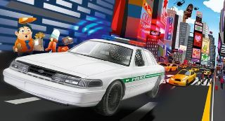 FORD POLICE CAR IN KIT    1/25