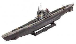 Model Set Sottomarino Tedesco Type VII C/41 1/350 con colla e colori