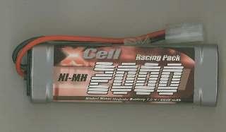 PACCO XCELL 7,2v 2000mah  NiMh