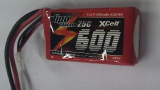 LiPo CRACKER 11,1v 600mAh  25C