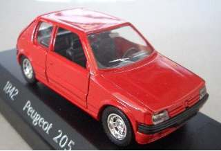 PEUGEOT 205 GTI RED       1/43