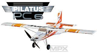 PILATUS PC6 RR ROSSO    1250mm