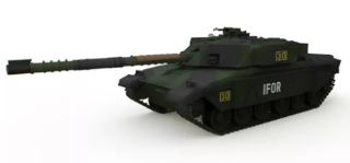 MBT CHALLENGER 1 FOREST   1:72