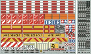 DECALS PER CAMION RC      1/14
