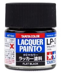 LP-3 FLAT BLACK            6pz BOTTIGLIETTA COLORE LACQUER