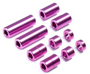 Set 10 spessori in alluminio viola Mini4WD