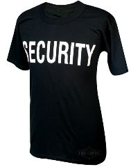 T-SHIRT SECURITY NERA   MEDIUM