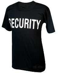 T-SHIRT SECURITY NERA    LARGE