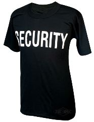 T-SHIRT SECURITY NERA       XL