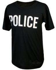 T-SHIRT POLICE NERA     MEDIUM