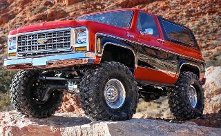 Chevrolet K5 Blazer rossa TRX-4 chassis (no spedizione)