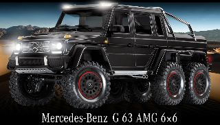 TRX-6 Mercedes G 63 AMG 6x6 nero con Kit Luci TRX6