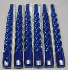 CANDELE BLU TORCIGLIONE 6pz